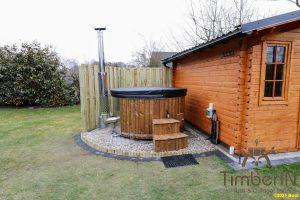 Vedfyring badestamp med bobler – TImberIN Rojal (1)