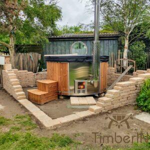 Vedfyring badestamp med bobler – TimberIN Rojal (2)