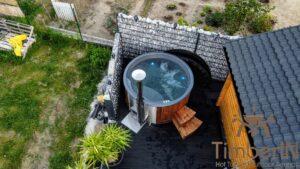 Vedfyring badestamp med bobler – TimberIN Rojal (3)