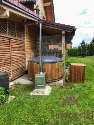 Vedfyring badestamp med bobler – TimberIN Rojal (6)