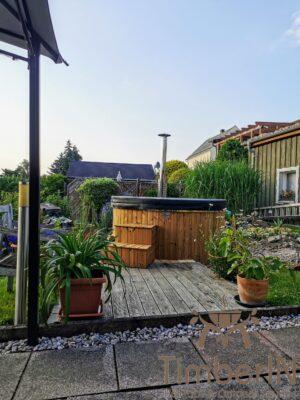 Vedfyring badestamp med bobler – TimberIN Rojal