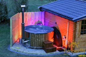 Vedfyring badestamp med bobler TImberIN Rojal (2)