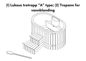 1 Luksus tretrapp A type 2 Trepann for vannblanding