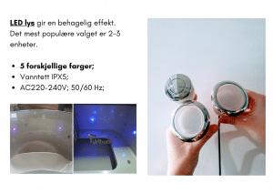 2 LED for badestamp av tre