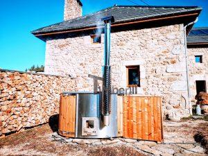 Badestamp glassfiber med integrert ovn bobler (2)