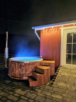 Badestamp glassfiber med integrert ovn bobler (3)