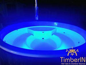 Badestamp glassfiber med integrert ovn bobler (4)