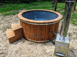 Badestamp i glassfiber med utvendig ovn (23)