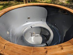 Badestamp i glassfiber med utvendig ovn (30)