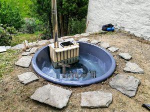 Badestamp i glassfiber på terrasse – nedfelt – innbygging (2)