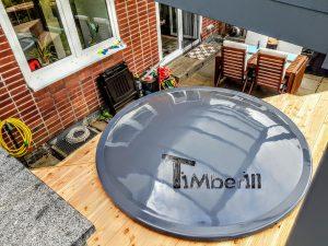 Badestamp i glassfiber på terrasse nedfelt innbygging (4)