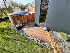 Badestamp i glassfiber på terrasse – nedfelt – innbygging (4)