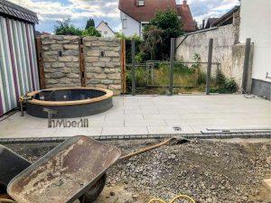 Badestamp i glassfiber på terrasse – nedfelt – innbygging (5)