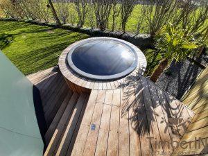 Badestamp i glassfiber på terrasse – nedfelt – innbygging (6)