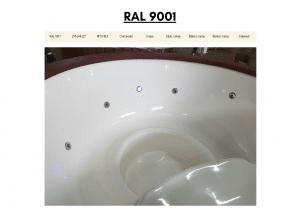 Hvit (RAL 9001) for badestamp av tre