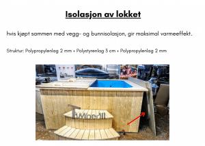 Isolasjon av lokket for rektangulær badestamp