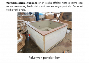 Isolering av vegger for rektangulær badestamp