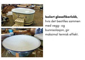 Isolert glassfiberlokk