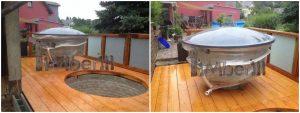 Klassisk badestamp med eksterne vedovn (3)