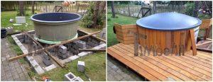 Klassisk badestamp med eksterne vedovn (4)