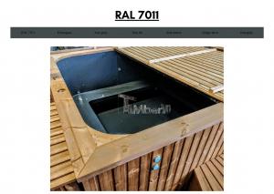 Mørk grå (RAL 7011) for rektangulær badestamp