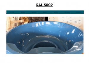 Mørkeblå (RAL 5009) for badestamp av tre