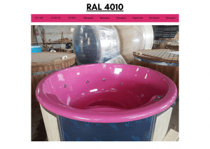 Rosa (RAL 4010) for badestamp av tre