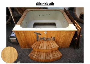 Sibirisk eik for rektangulær badestamp