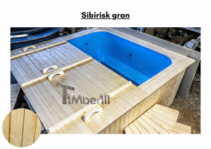 Sibirisk gran for rektangulær badestamp