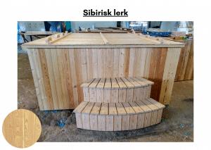 Sibirisk lerk for rektangulær badestamp