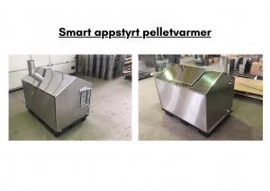 Smart appstyrt pelletvarmer (rustfritt stål 316 type for vannbehandling med salter)