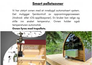 Smart pelletsovner Utendørs trebastu for hage igloo design