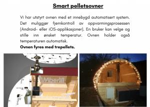 Smart pelletsovner for utendørs badstue