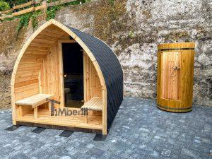 Utendørs trebastu for hage igloo design (3)