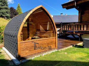 Utendørs trebastu for hage igloo design (4)