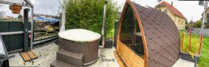 Utendørs trebastu for hage igloo design (2)