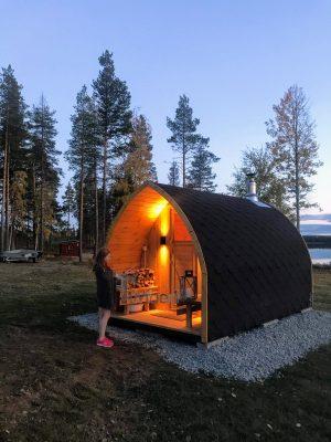 Utomhusbastu för trädgård Igloo, Kaisa, Malå, Sweden (4)