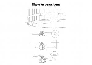 Vedfyrt badestamp i glassfiber med innvendig ovn (4)