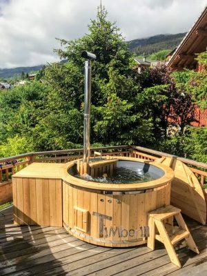 Vedfyrt badestamp i glassfiber med innvendig ovn (6)