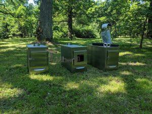 Ekstern rustfritt stål ovn for badestamper [rektangulær modell] (1)