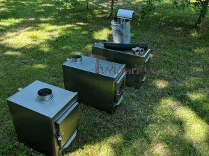 Ekstern rustfritt stål ovn for badestamper [rektangulær modell] (10)