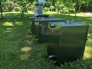 Ekstern rustfritt stål ovn for badestamper [rektangulær modell] (11)