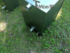 Ekstern rustfritt stål ovn for badestamper [rektangulær modell] (12)
