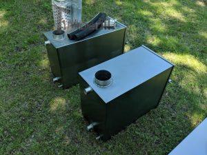 Ekstern rustfritt stål ovn for badestamper [rektangulær modell] (13)