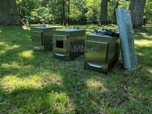 Ekstern rustfritt stål ovn for badestamper [rektangulær modell] (18)