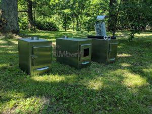 Ekstern rustfritt stål ovn for badestamper [rektangulær modell] (2)