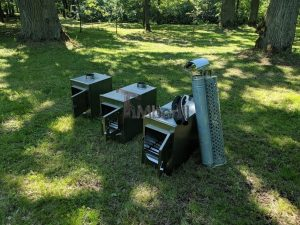 Ekstern rustfritt stål ovn for badestamper [rektangulær modell] (21)