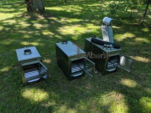 Ekstern rustfritt stål ovn for badestamper [rektangulær modell] (22)