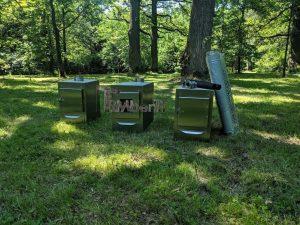 Ekstern rustfritt stål ovn for badestamper [rektangulær modell] (3)