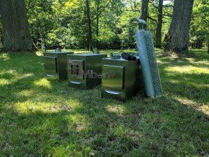 Ekstern rustfritt stål ovn for badestamper [rektangulær modell] (4)